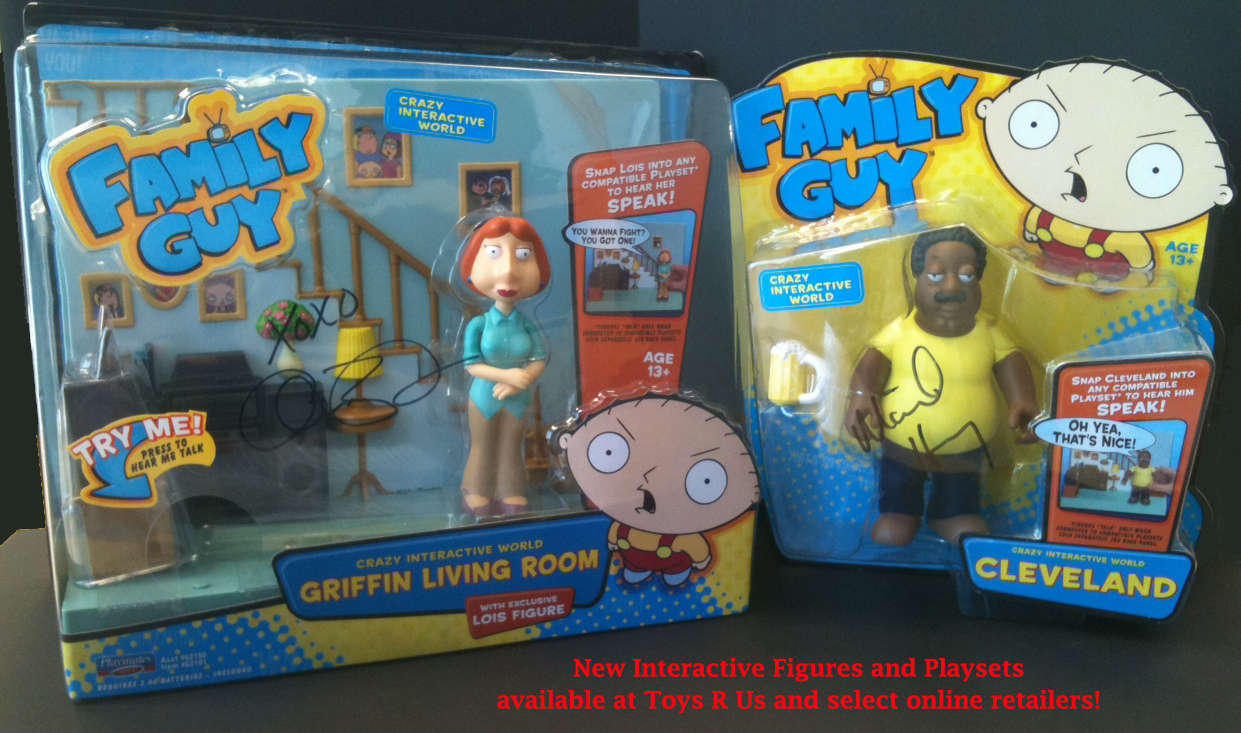 Cleveland Family Guy Toys : Win autographed 'family guy action figures from