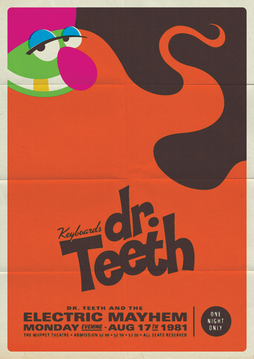 amazing retro muppet concert posters for dr teeth and the