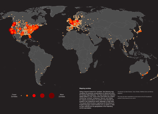 World Map Shows Who Is Most Concerned About Zombies | YouBentMyWookie