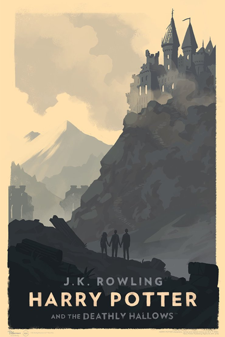 Harry Potter Book Cover Poster ~ Olly moss s style harry potter hogwarts posters