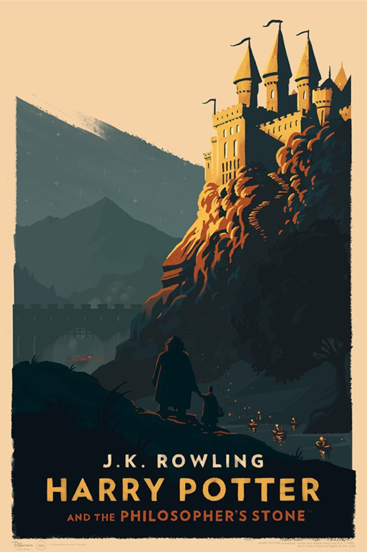 Harry Potter Book Cover Art Posters ~ Olly moss s style harry potter hogwarts posters
