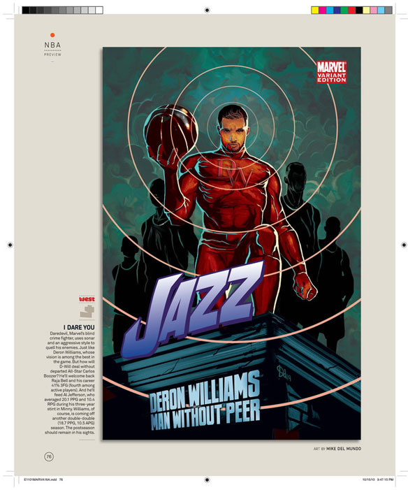 910eec6006c7 Every NBA Team Makes A Marvel Debut In New Epic  ESPN Magazine ...