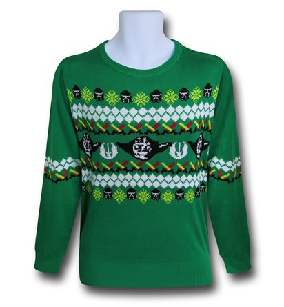 Green Day Christmas Sweater.Celebrate Life Day With Star Wars Christmas Sweaters