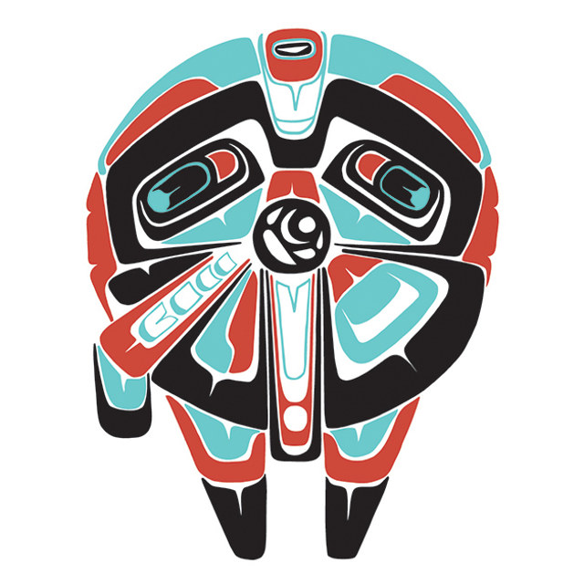 Star Wars Images In The Style Of Northwest Coast Indian