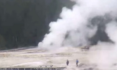 What's Hot: Long-Dormant Yellowstone Geyser Spews 60 Years Of Litter