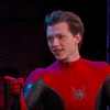 Ton Holland Shows Off New 'Spider-Man' Costume On Kimmel