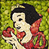 Amazing Snow White Food Art Made With Sliced Apples