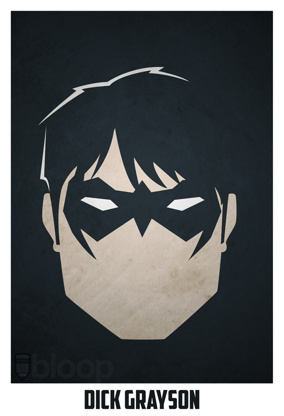 Bloops Minimalist Dc Superhero Posters Collection - Njbo