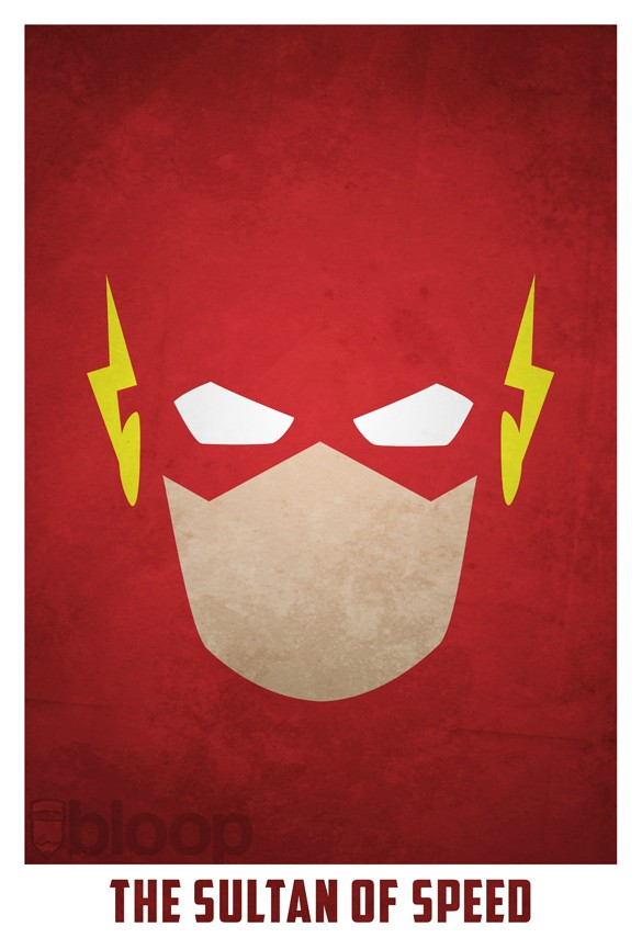 Bloops minimalist dc superhero posters collection for Minimal art face