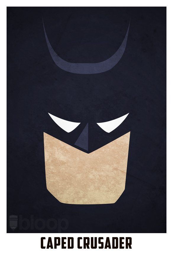 Bloops minimalist dc superhero posters collection for Minimal art hero
