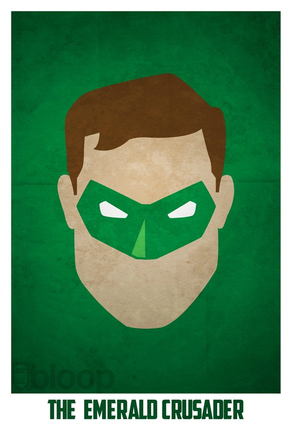 Bloops Minimalist Dc Superhero Posters Collection - Bkesi