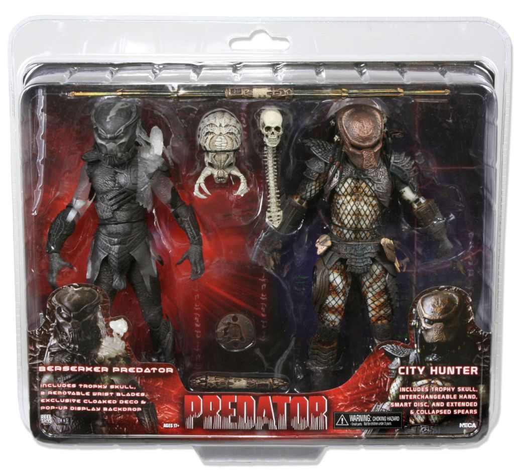neca first packaged look of the toys r us exclusive predator 2 pack youbentmywookie. Black Bedroom Furniture Sets. Home Design Ideas