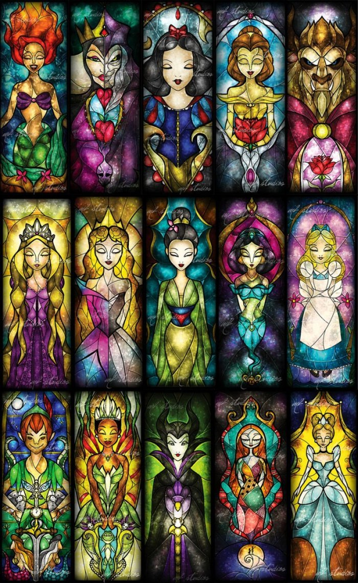 Mandie Manzano S Beautiful Disney Stained Glass Princesses
