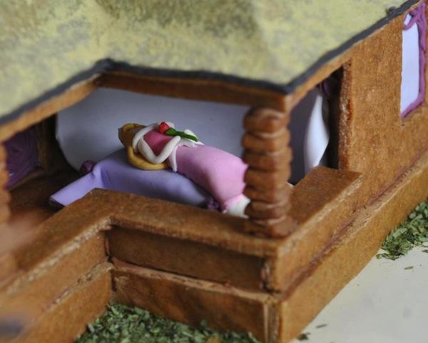 Stunning Sleeping Beauty Themed Gingerbread House