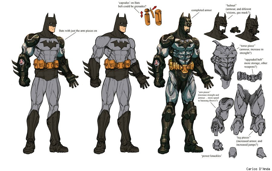 Unreleased Character Designs From 'Batman: Arkham Asylum ...