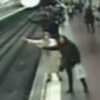 Dramatic Footage Of Man Being Pulled From Path Of Incoming Train In Spain