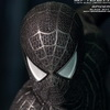 Hot Toys Spider-Man 3: 1/6th scale Spider-Man (Black Suit Version) Limited Edition Collectible Figurine with Sandman Diorama Base