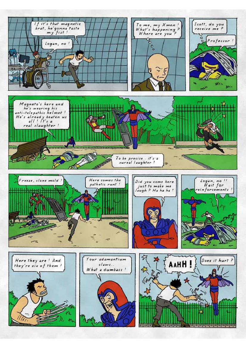 The X Men Reimagined As Herge S Tintin Style Comic