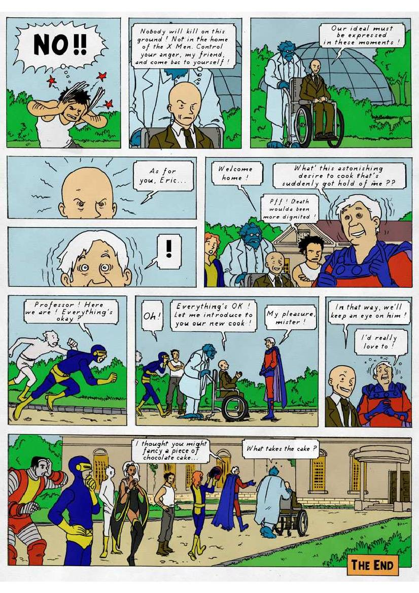 Tintin Comics French The X-Men Reimagined A...