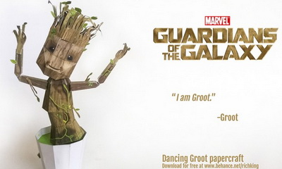 What's Hot: Make Your Own Papercraft Dancing Baby Groot