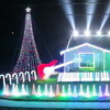 Star Wars Christmas Light Display Includes Spotlight Lightsaber Duel