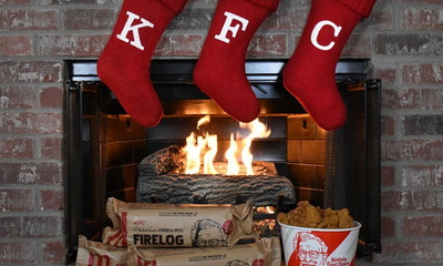 What's Hot: Forget The Yule Log, KFC Has A Fried Chicken-Scented Firelog!