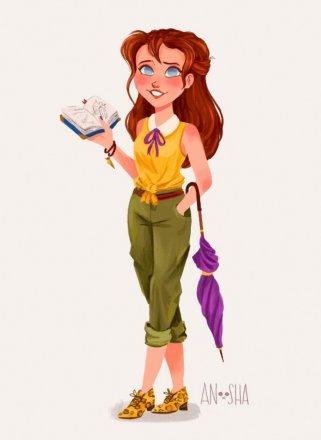 Anoosha-Syed-Disney-Princesses-As-Modern-Day-Girls-Jane-the-Artist-686x938.jpg