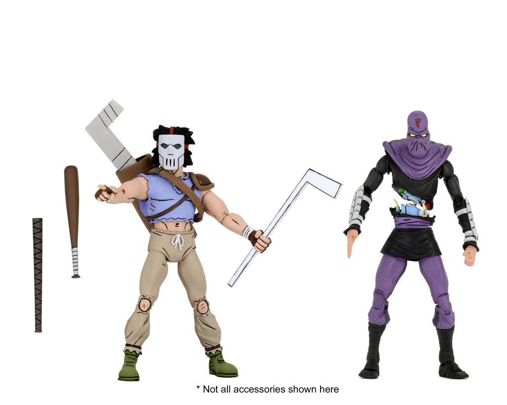 """7"""" 2 PACK TARGET EXCL NEW IN BOX NECA TMNT APRIL O'NEIL /& FOOT SOLDIER BASHED"""